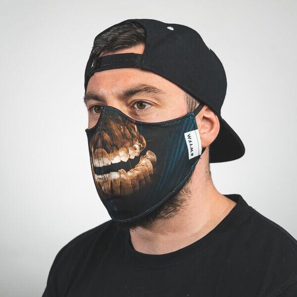 Mundmaske mit röntgen gebiss Seitenansicht rechts